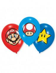 6 Super Mario™ latex ballonnen