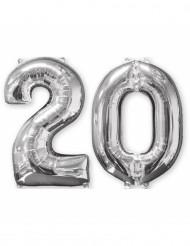 2 cijfer ballonnen nummer 20
