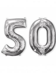Set van 2 50 jaar ballonnen