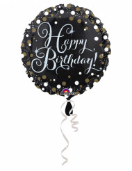 Glanzende Happy Birthday ballon