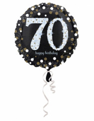 Glanzende Happy Birthday 70 jaar ballon