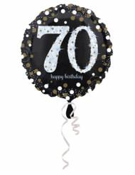 Glanzende Happy Birthday 70 jaar ballon