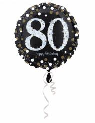 80 jaar Happy Birthday ballon