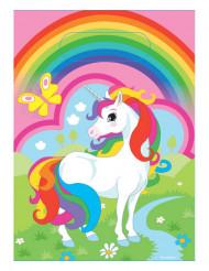 8 plastic eenhoorn regenboog zakjes