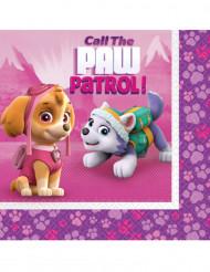 20 roze Paw Patrol™ servetten