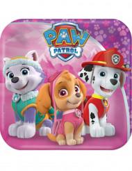 8 Roze Paw Patrol™ kartonnen borden