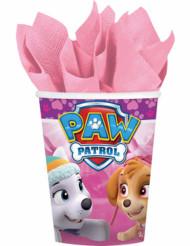 8 roze Paw Patrol™ bekers