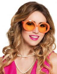 Oranje disco bril voor volwassenen