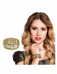 Strass en metaal armband voor vrouwen