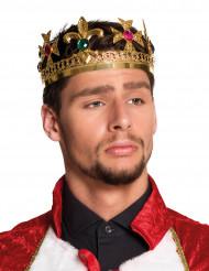 Koningskroon met nepjuwelen voor volwassenen