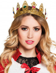 Koningin kroon met nepjuwelen voor volwassenen