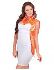 Oranje sjaal met lovertjes voor volwassenen