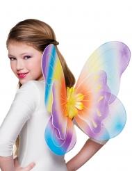 Regenboog vlinder vleugels voor meisjes