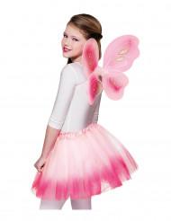 Roze vlindervleugels en tutu voor meisjes