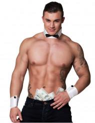 Stripper kraag en manchetten voor heren