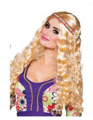 Gekrulde hippie pruik met hoofdband voor vrouwen