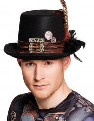 Copper steampunk hoge hoed voor volwassenen