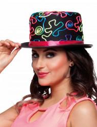 Gekleurde hoge hoed voor volwassenen