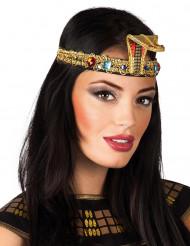 Egyptische hoofdband met nepjuweel voor volwassenen