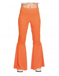 Oranje discobroek voor vrouwen