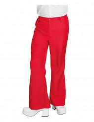 Rode disco broek voor mannen