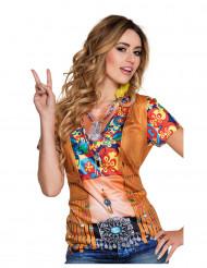 Hippie t shirt met gilet voor vrouwen
