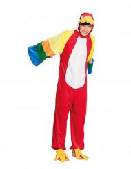 Pluche papegaai kostuum voor tieners