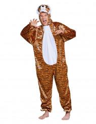 Pluche tijgerkostuum voor tieners