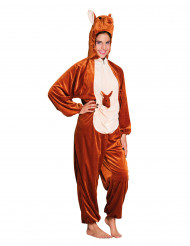 Pluche kangoeroe kostuum voor tieners