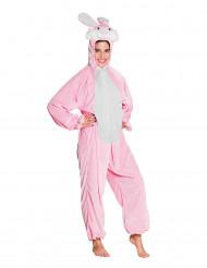Roze en wit konijn kostuum voor tieners