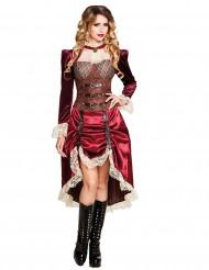 Steampunk kapitein kostuum voor vrouwen