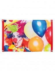 Clown feest vlag