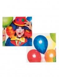 12 Clown Party servetten