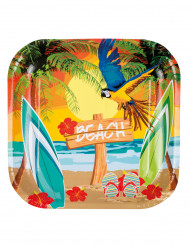 6 Beach Party borden 23 cm