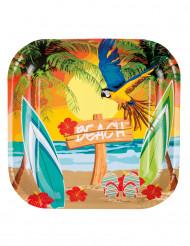 6 Beach Party borden 23 cm