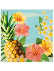 12 Hawaii ananas servetten
