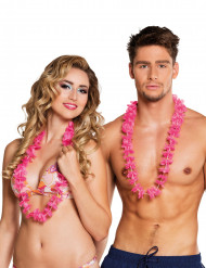 25 roze Hawaii kettingen