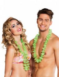 25 groene Hawaii kettingen