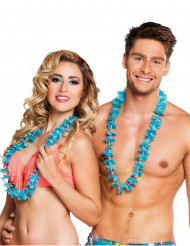 Set 25 blauwe Hawaii kettingen