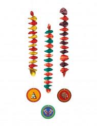 3 indianen plafonddecoraties