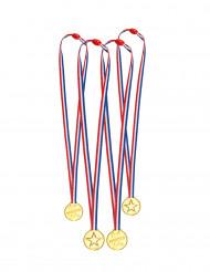 4 driekleurige medailles