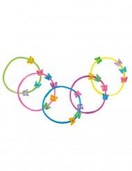 5 kleurrijke vlinder armbanden