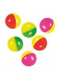 6 kleurrijke stuiterballen