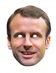 Kartonnen Emmanuel Macron masker