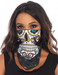 Skelet Dia de los Muertos bandana voor volwassenen