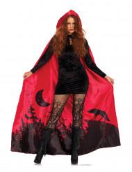 Rode Halloween cape voor vrouwen