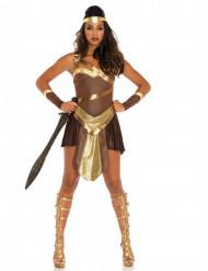 Goudkleurig gladiator strijder kostuum voor vrouwen