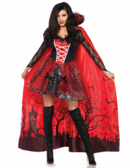 Verleidelijke vampier met afneembare cape kostuum voor vrouwen