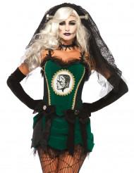 Groene monster bruid kostuum voor vrouwen