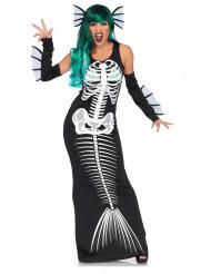 Zeemeermin skelet kostuum voor vrouwen